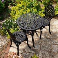 ROSE Conjunto bistro -  Bronce Antiguo (2 sillas)