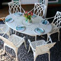 EMILY Mesa - Blanco (6 sillas)