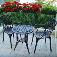 IVY Mesita bistro -  Bronce Antiguo (2 sillas)