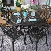 HANNAH Mesa -  Bronce Antiguo (4 sillas)