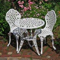 ROSE Conjunto bistro - Blanco (2 sillas)