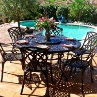 FRANCES Mesa -  Bronce Antiguo (6 sillas)