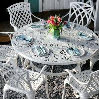 JOYCE Mesa - Blanco (6 sillas)