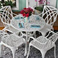 JILL Mesita - Blanco (4 sillas)