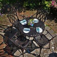 MIA Mesa -  Bronce Antiguo (4 sillas)