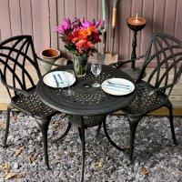 ANNA Mesa - Bronce Antiguo (2 sillas)